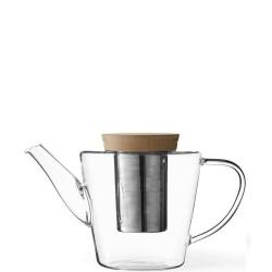 VIVA Scandinavia Infusion Dzbanek do herbaty szklany z drewnianą pokrywką