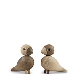 Lovebirds Dekoracja drewniana 2szt.
