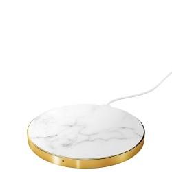White marble Ładowarka bezprzewodowa z technologią Qi