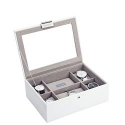 Stackers Pudełko na zegarki ze szklaną pokrywką