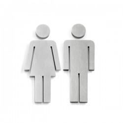 Zack Indici piktogram do toalety: kobieta lub mężczyzna