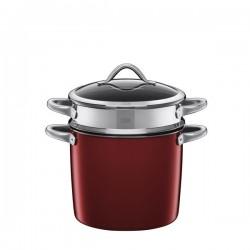 Vitaliano Rosso garnek z wkładem do gotowania makaronu