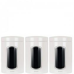 Storage Brabantia komplet 3 pojemników kuchennych, kolor biały