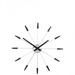Plug inn Black zegar ścienny