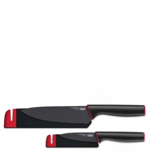 Joseph Joseph Slice&Sharpen Zestaw dwóch noży z ostrzałką