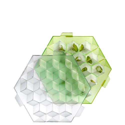 Lekue Ice Cube foremka do lodu, kolor zielony