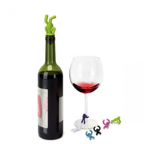 UMBRA Drinking Buddy oznaczniki do szkła z korkiem do wina