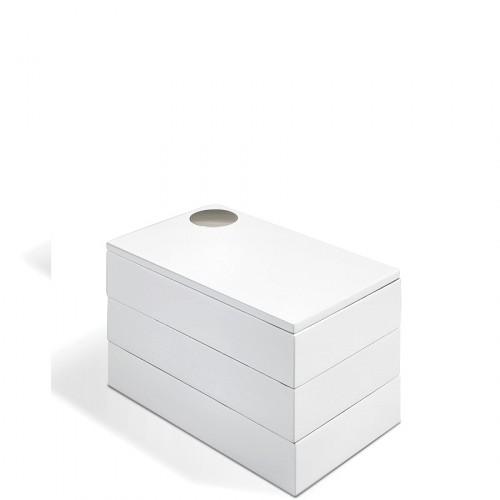 UMBRA Spindle szkatułka na biżuterię, kolor biały