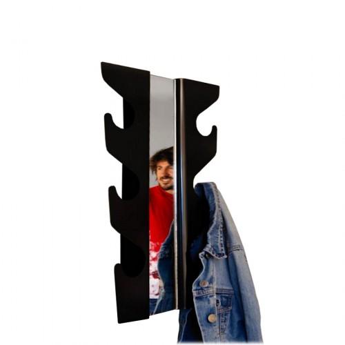 J-me Wave wieszak na ubrania z lustrem, srebrny