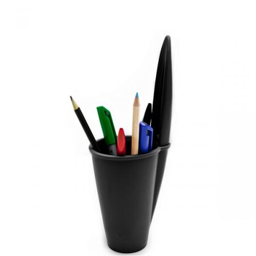 J-me Pen Lid pojemnik na długopisy i ołówki, kolor czarny