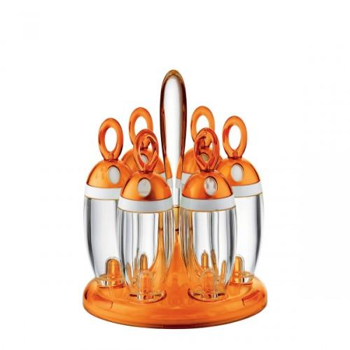 Guzzini Latina obrotowy stojak z pojemnikami, pomarańczowy