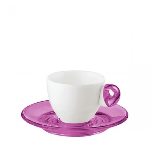 Guzzini Art & Cafe filiżanki espresso 2 szt, fiolet