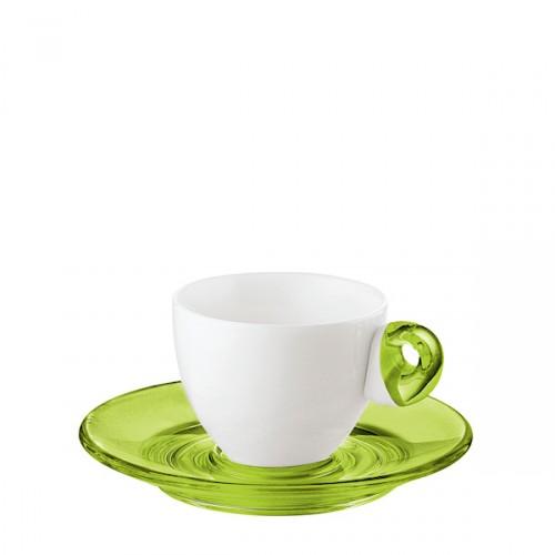 Guzzini Art & Cafe filiżanki espresso 2 szt, zielone