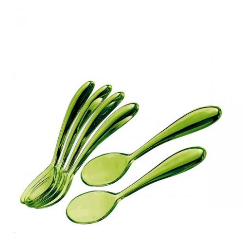 Guzzini Art & Cafe komplet 6-ciu łyżeczek, zielony
