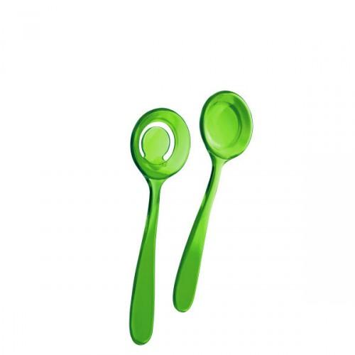 Guzzini Bolli łyżki do sałaty, kolor zielony