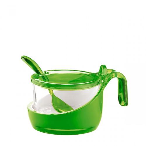 Guzzini Mirage cukiernica z łyżeczką, zielona