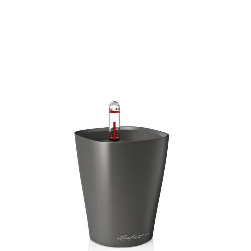 Lechuza Deltini Mini Metalic donica lakierowana matowa z wyjmowanym wkładem
