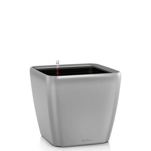 Lechuza Quadro LS Metalic donica lakierowana matowa z wyjmowanym wkładem