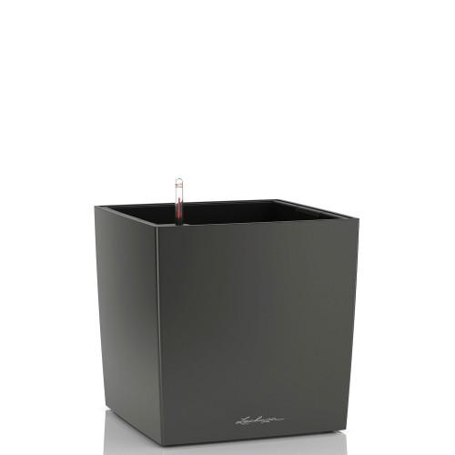 Lechuza Cube donica lakierowana matowa z wyjmowanym wkładem