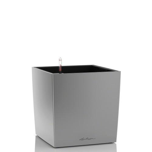 Lechuza Cube donica lakierowana z wyjmowanym wkładem