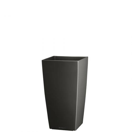 Lechuza Cubi Mini Metallic donica lakierowana matowa z wyjmowanym wkładem