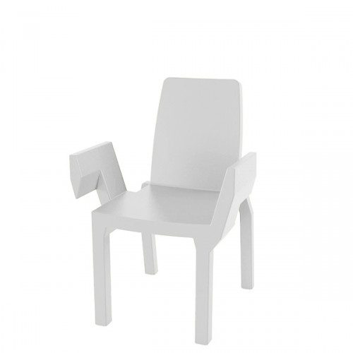 Slide Doublix krzesło, kolor biały