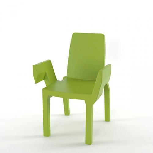 Slide Doublix krzesło, kolor zielony