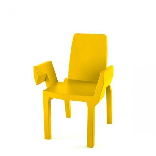 Slide Doublix krzesło, kolor żółty