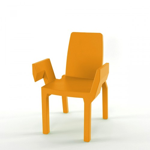 Slide Doublix krzesło, kolor pomarańczowy