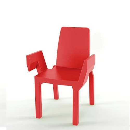 Slide Doublix krzesło, kolor czerwony