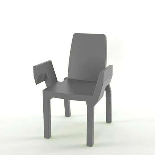 Slide Doublix krzesło, kolor szary