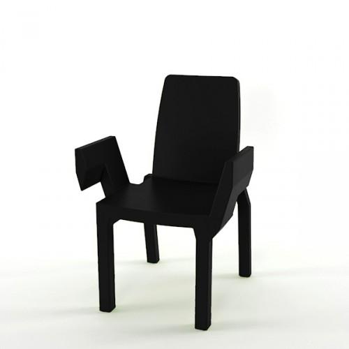 Slide Doublix krzesło, kolor czarny