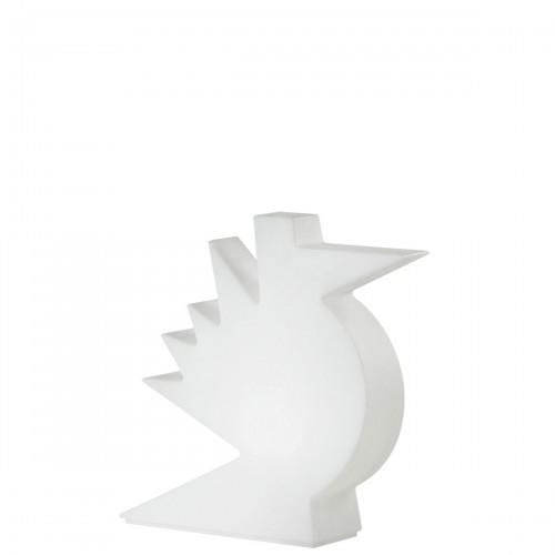 Slide Here lampa stołowa, kolor biały