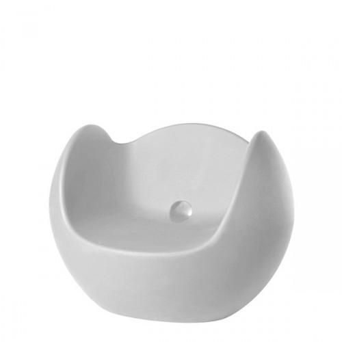Slide Blos fotel w kolorze białym