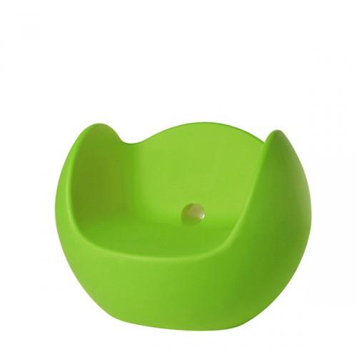 Slide Blos fotel w kolorze zielonym