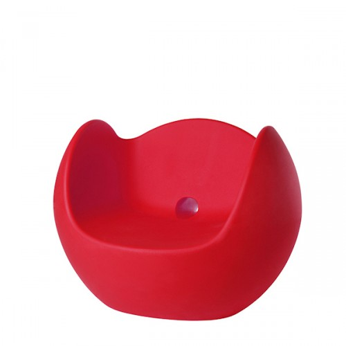Slide Blos fotel w kolorze czerwonym