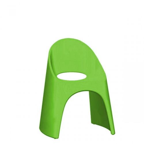 Slide Amelie krzesło w kolorze zielonym