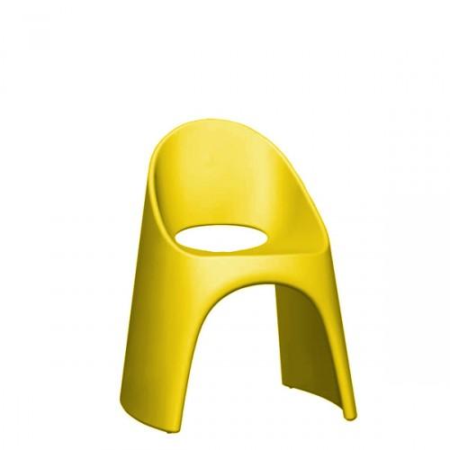 Slide Amelie krzesło w kolorze żółtym