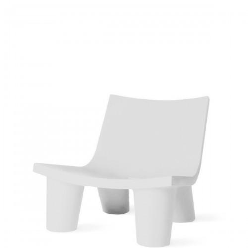 Slide Low Lita krzesło w kolorze białym