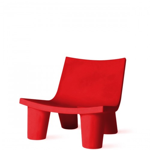 Slide Low Lita krzesło w kolorze czerwonym