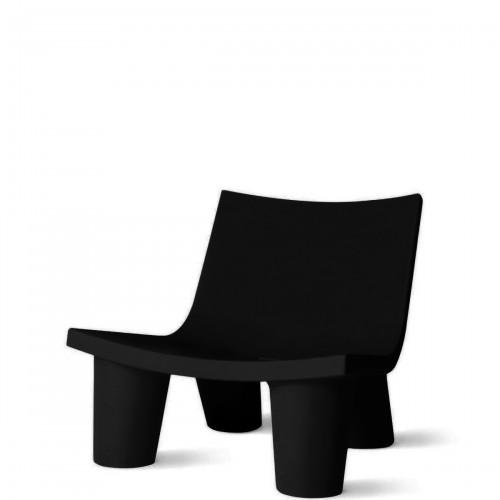 Slide Low Lita krzesło w kolorze czarnym