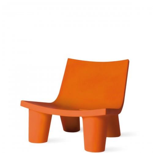 Slide Low Lita krzesło w kolorze pomarańczowym