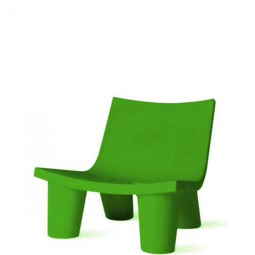 Slide Low Lita krzesło w kolorze zielonym