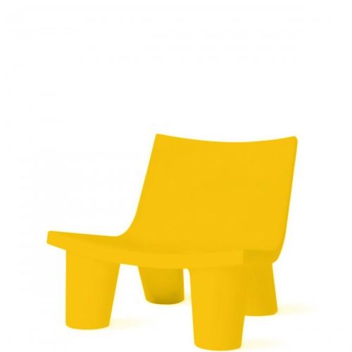 Slide Low Lita krzesło w kolorze żółtym