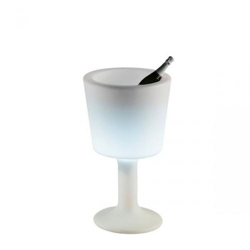Slide Light Drink lampa w kształcie kielicha, kolor biały