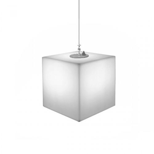 Slide Cubo wisząca lampa w kształcie sześcianu, kolor biały