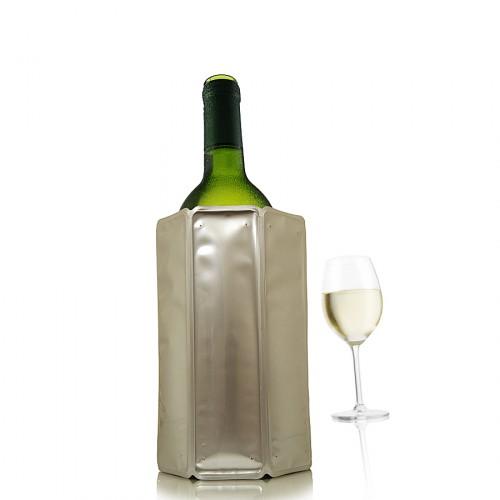 Vacu Vin Chrome okrycie chłodzące do butelki wina