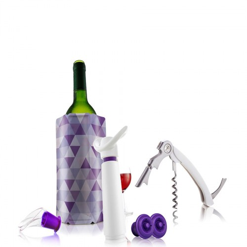 Vacu Vin Giftset Wine Essentials Wh/Pu zestaw do wina