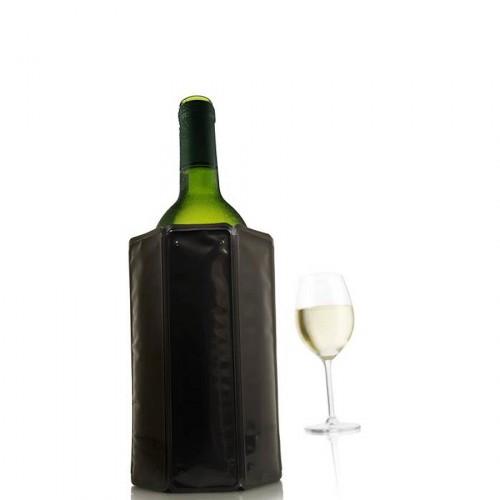 Vacu Vin Black cooler do butelki wina, kolor czarny