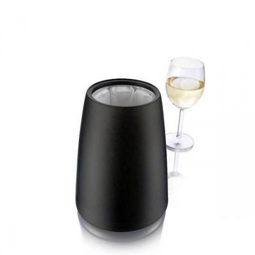 Vacu Vin Elegant kubełek na butelkę wina, czarny